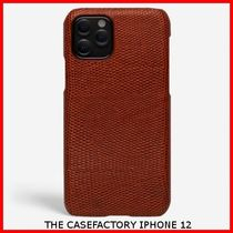 関税送料込☆THE CASEFACTORY☆IPHONE 12 LIZARD GRANATA