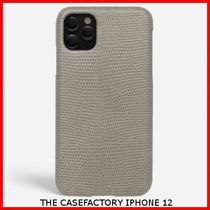 関税送料込☆THE CASEFACTORY☆IPHONE 12 LIZARD GREY