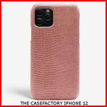 関税送料込☆THE CASEFACTORY☆IPHONE 12 LIZARD ROSA ANTICO