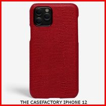 関税送料込☆THE CASEFACTORY☆IPHONE 12 LIZARD SCARLETT