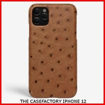 関税送料込☆THE CASEFACTORY☆IPHONE 12 OSTRICH COGNAC