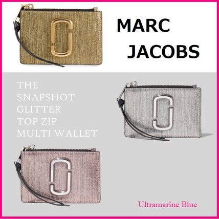 MARC JACOBS パスケース MARC JACOBS☆THE SNAPSHOT GLITTER TOP ZIP MULTI WALLET☆