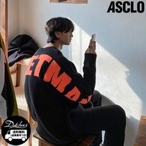 ASCLO Rocket Man Lettering Round Knit YJ712 追跡付
