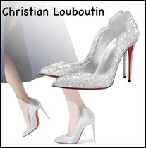★Christian Louboutin★Hot Chick 100mm パンプス BLACK/SILVER
