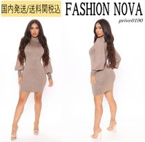 送関込【FashionNova】sparkle and shine sweater mini dress