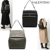 VALENTINO ROCKSTUD GRAINED CALFSKIN PACKPACK