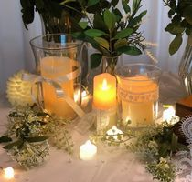 【trendeco】  Bird line clear glass candle holder vase - M