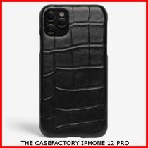 関税送料込☆THE CASEFACTORY☆IPHONE 12 PRO CROCODILE BLACK