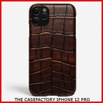 関税送料込☆THE CASEFACTORY☆IPHONE 12 PRO CROCODILE COGNAC