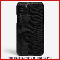 関税送料込☆THE CASEFACTORY☆IPHONE 12 PRO LIZARD BLACK