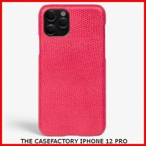 関税送料込☆THE CASEFACTORY☆IPHONE 12 PRO LIZARD FUXIA