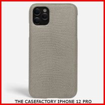 関税送料込☆THE CASEFACTORY☆IPHONE 12 PRO LIZARD GREY