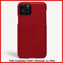 関税送料込☆THE CASEFACTORY☆IPHONE 12 PRO LIZARD SCARLETT