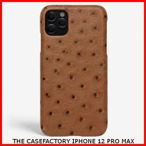 関税送料込☆THE CASEFACTORY☆IPHONE 12 PRO OSTRICH COGNAC