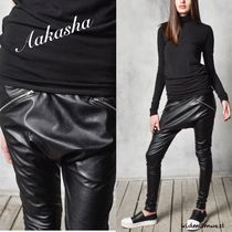 Drop Crotch Faux Leather Pants☆COOLにキメたいあなたに♪