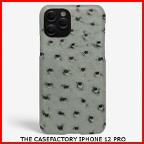 関税送料込☆THE CASEFACTORY☆IPHONE 12 PRO OSTRICH GREY