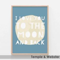 T&W■LOVEアート『I Love You To The Moon & Back』x4サイズ