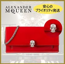 【Alexander McQueen】Skull Patent Leather Wallet-On-Chain