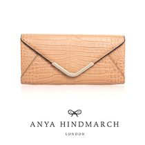 ★ANYA HINDMARCH★ POSTBOX CONTINENTAL クロコ柄 長財布