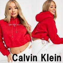 ■Calvin Klein Jeans■ フロントロゴパーカー レッド