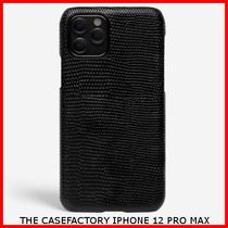 関税送料込☆THE CASEFACTORY☆IPHONE 12 PRO MAX LIZARD BLACK