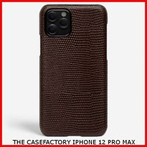 関税送料込☆THE CASEFACTORY☆IPHONE 12 PRO MAX LIZARD BROWN
