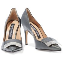 SALE♪Sergio Rossi embellished metallic patent-leather pumps