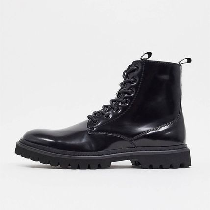 ASOS Unrvlld Supply lace up boots with tape detail