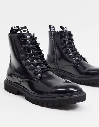 ASOS ブーツ ASOS Unrvlld Supply lace up boots with tape detail(2)