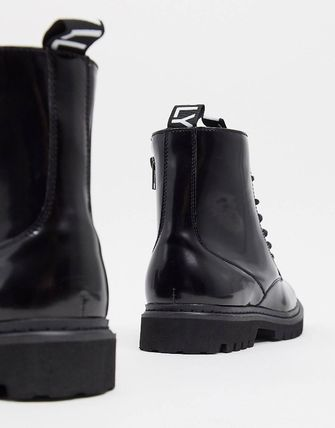 ASOS ブーツ ASOS Unrvlld Supply lace up boots with tape detail(3)