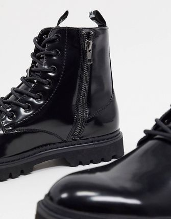 ASOS ブーツ ASOS Unrvlld Supply lace up boots with tape detail(4)