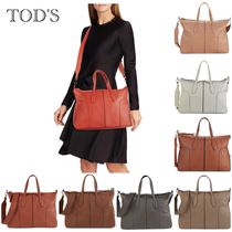 SALE♪TOD'S Stitched Leather Satchel 2wayバッグ