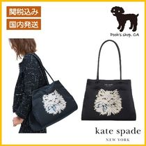 【Kate Spade】everything puffy cat large tote◆国内発送◆