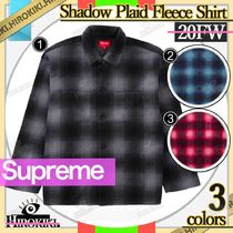 20FW /Supreme Shadow Plaid Fleece Shirt フリース シャツ