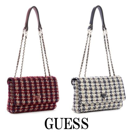 Guess ショルダーバッグ・ポシェット 20AW最新作*GUESS*Cessily*ツイード・クロスボディバッグ♪