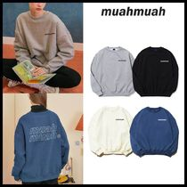 ◆MUAHMUAH◆ POINT LOGO SWEATSHIRTS (4色) スウェット可愛い
