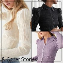 & Other Stories(アンドアザーストーリーズ) ブラウス・シャツ 【& Other Stories】Fitted Smocked フリル付き シャツ