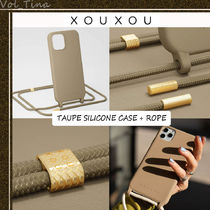 XOUXOU◆MODULAR / TAUPE SILICONE CASE + ROPE
