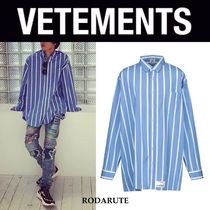 国内発 VETEMENTS Oversized striped shirt 送料関税込み