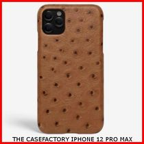 関税送料込☆THE CASEFACTORY☆IPHONE 12 PRO MAX OSTRICH