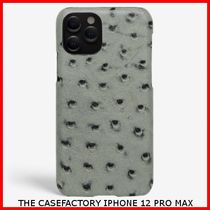 関税送料込☆THE CASEFACTORY☆IPHONE 12 PRO MAX OSTRICH GREY