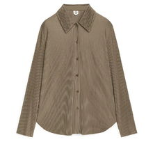 """""""ARKET"""" Pleated Jersey Shirt Brown"""