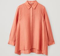 """COS"" CRINKLED DRAPED SHIRT ORANGE"