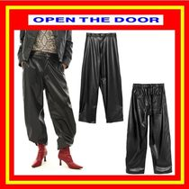 [OPEN THE DOOR] wide leather pants ◆追跡付