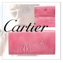 【Cartier】日本未発売 2コンパートメントウォレット ピンク