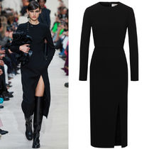V2117 LOOK30 STRETCH DOUBLE CREPE WOOL DRESS