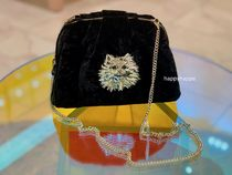 【kate spade】party velvet cat clutch/2WAY
