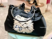 【kate spade】everything puffy cat large tote