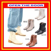 [OPEN THE DOOR]  western ankle boots (4 color) /追跡付