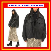 [OPEN THE DOOR]  over-fit leather jacket ◆ 追跡付